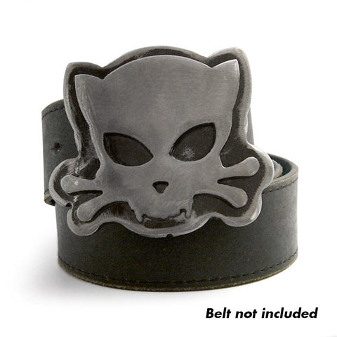 Outlaw Kitty Deluxe Belt Buckle by WATTO Distinctive Metal Wear