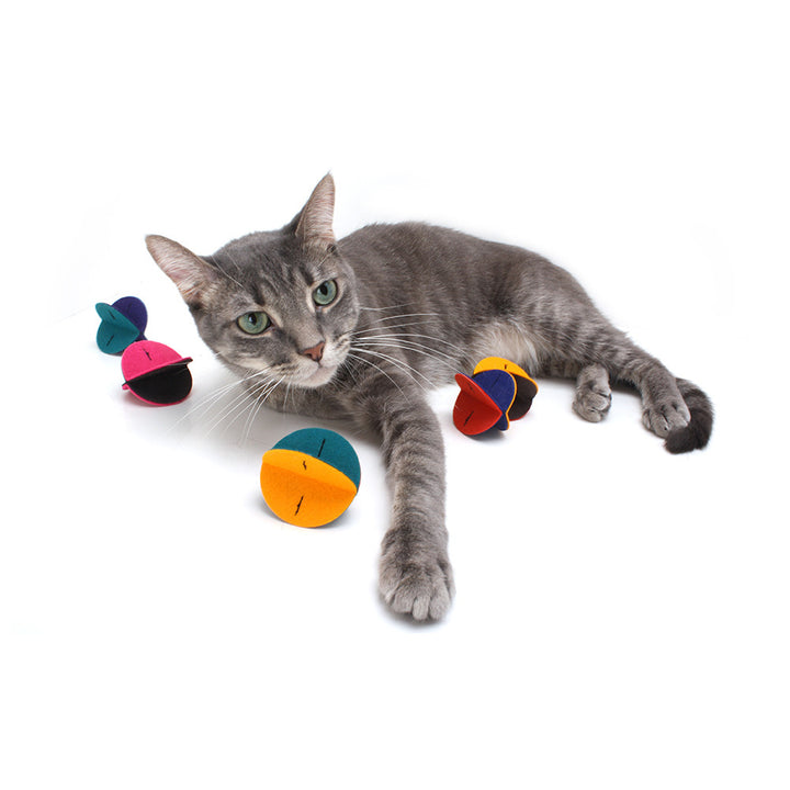 Felt Rollers - Felt Cat Toys (Set of 3 toys)