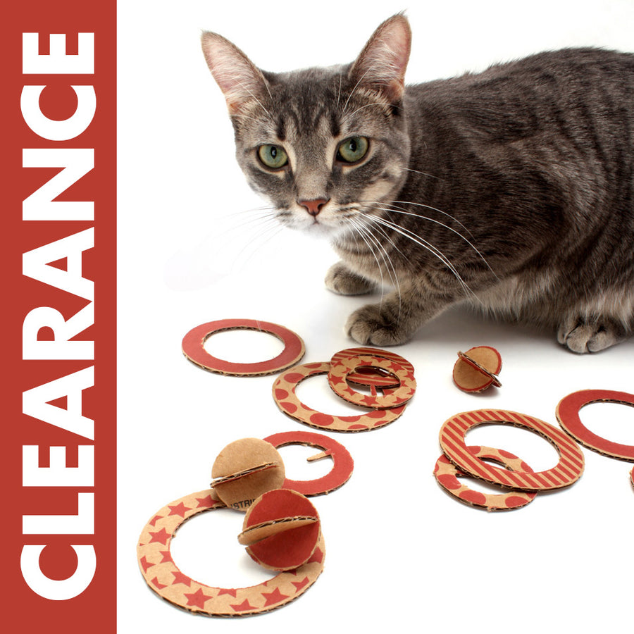 CLEARANCE Flips - Eco-friendly Flying Disc Cat Toys
