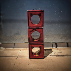 CatCab - Cat Hideaway Inspired by Custom Speaker Cabinets :: Barn Burner Red