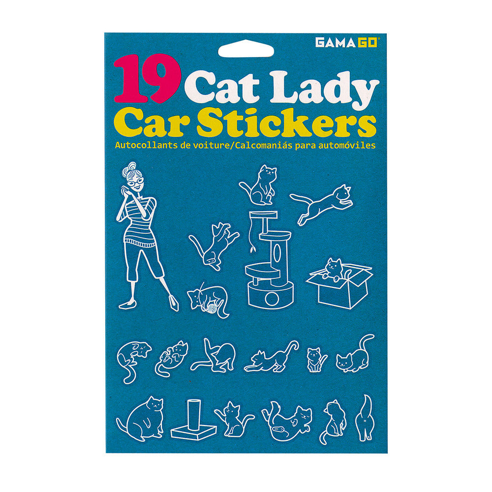 Cat Lady Car Window Stickers