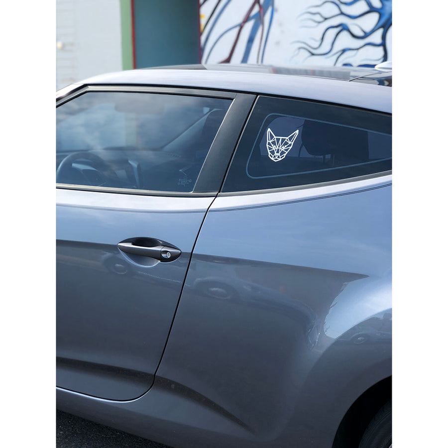 Geometric Cat Head Window Sticker