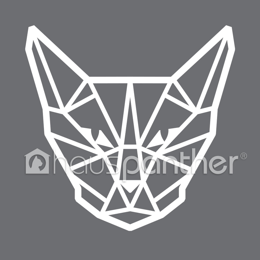 Geometric Cat Head Sticker