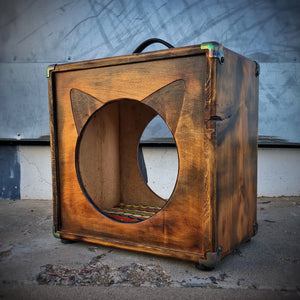 CatCab - Cat Hideaway Inspired by Custom Speaker Cabinets :: Golden Campfire