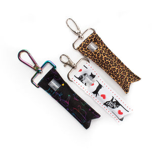 Hand Sanitizer Holder with Refillable Glass Spray Bottle
