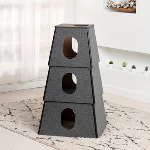Happystack 3-Story Cat Tower :: SQUARE