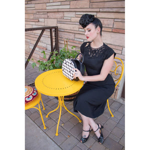 Hauspanther Black & White Hatbox Purse PRE-ORDER