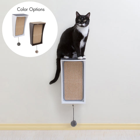 Hauspanther CATchall Wall-mounted Cat Scratcher, Perch & Storage by Primetime Petz