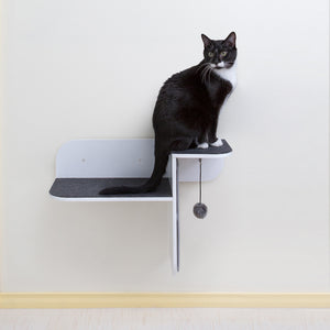 Hauspanther Step Perch Wall-mounted Cat Perch, Scratcher & Lounge by Primetime Petz