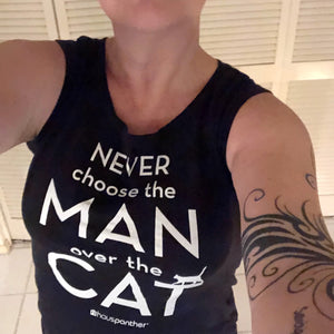 Never Choose the Man Over the Cat™ Ladies' Cap Sleeve T-Shirt