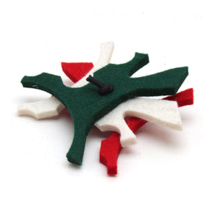 Holiday Splats - Merino Wool Felt Cat Toys