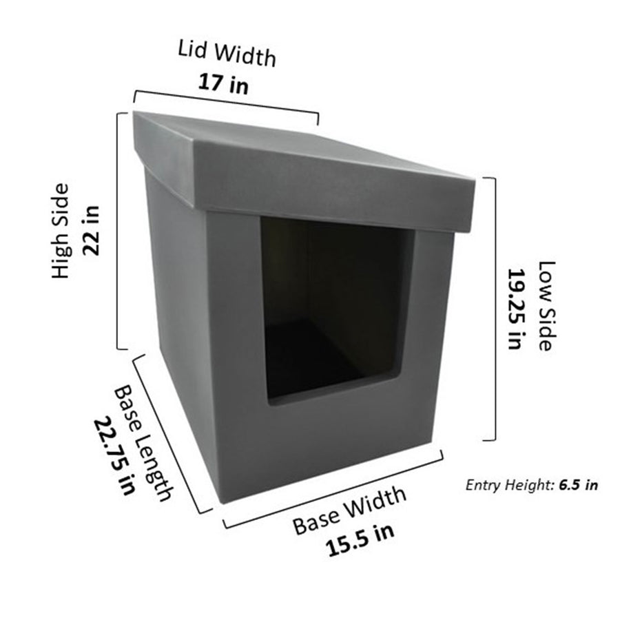 Kitangle Seamless Covered Litter Box :: Slope Style XL