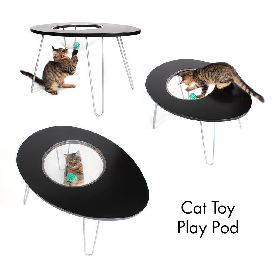 Hauspanther NestEgg Raised Cat Bed & Side Table by Primetime Petz