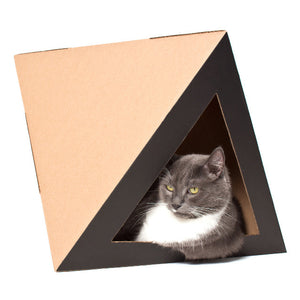 OCTACAT Contemporary Cardboard Cat Hideaway from Catchitecture