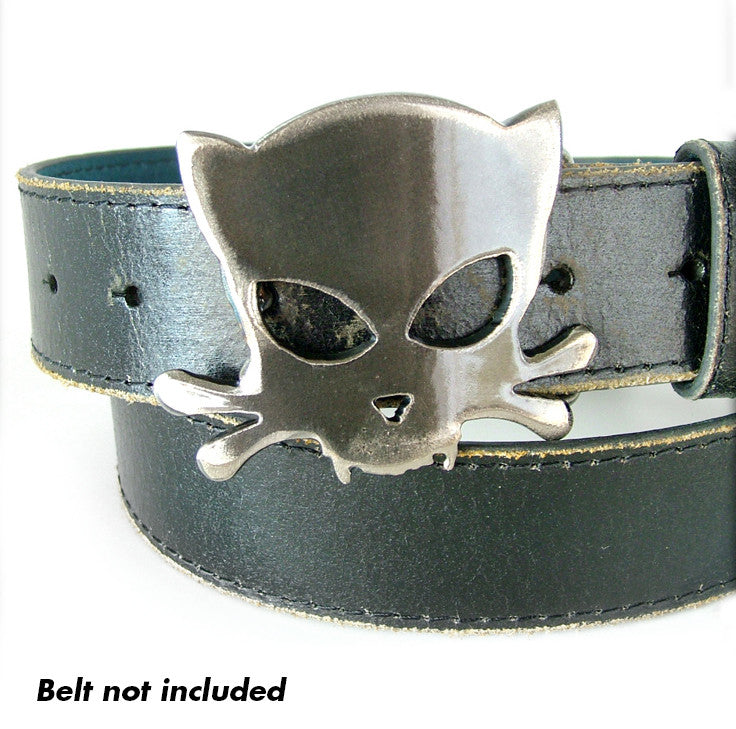 Outlaw Kitty Belt Buckle by WATTO Distinctive Metal Wear