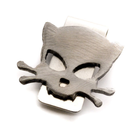 Outlaw Kitty Metal Money Clip by WATTO Distinctive Metal Wear