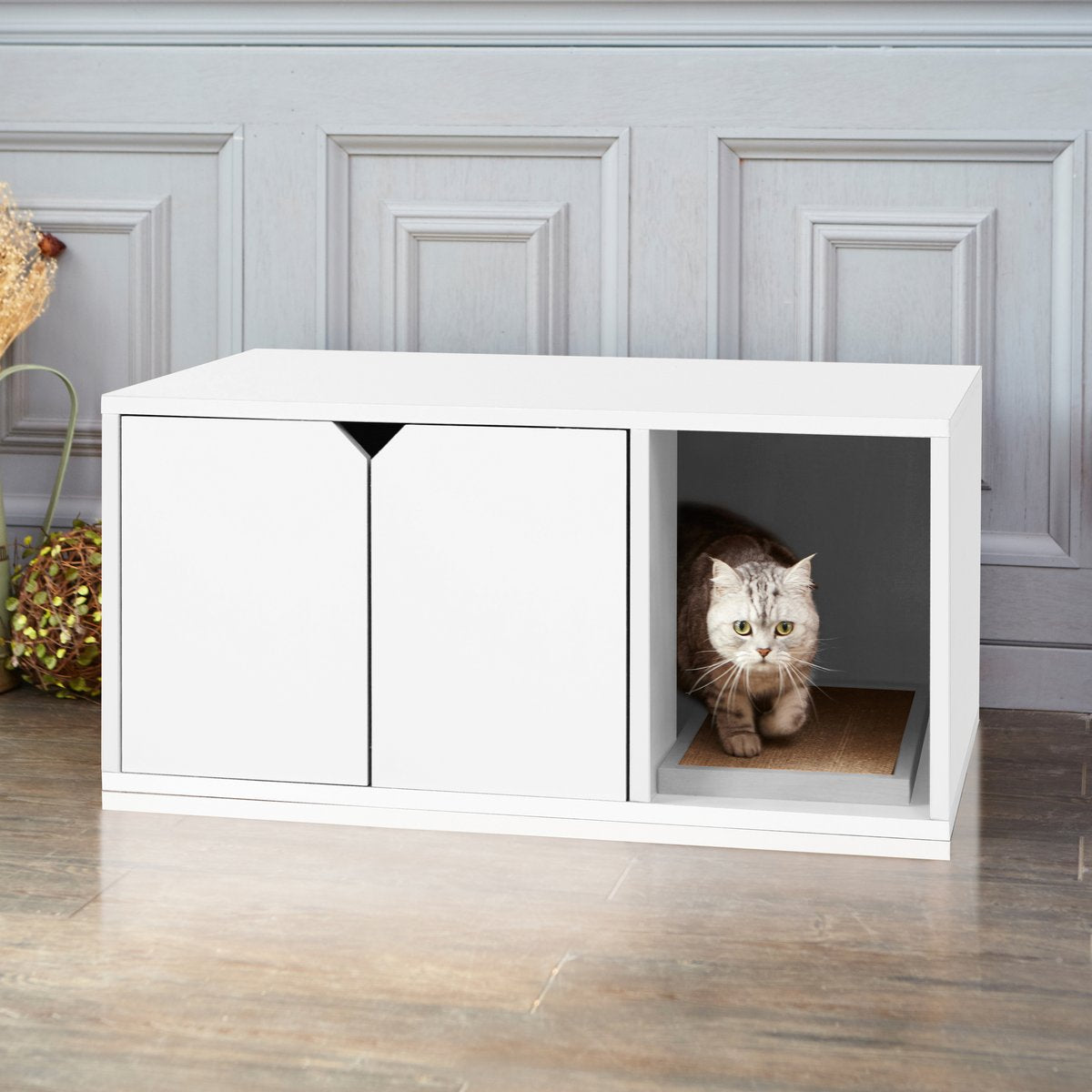 Eco Friendly Non Toxic Cat Litter Box Hider From Way Basics Hauspanther