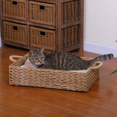 Rectangular Woven Cat Bed from PetPals :: Seagrass or Paper Rope