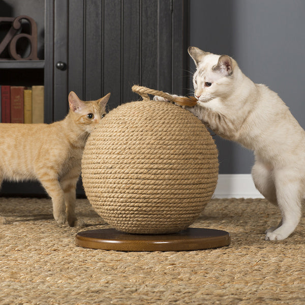 Jute Cat Scratching Sphere From Prevue Pet Hauspanther