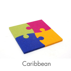 Puzzle Pieces - Merino Wool Felt Cat Toys (Set of 4 toys)