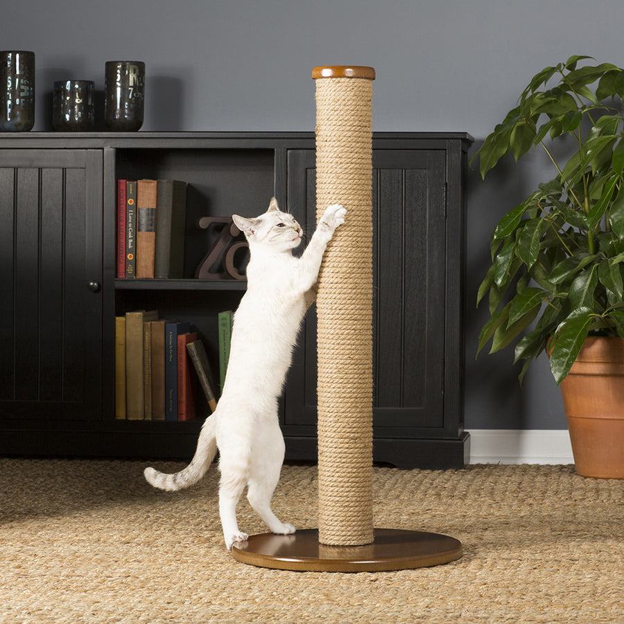 Tall Round Jute Cat Scratching Post from Prevue Pet