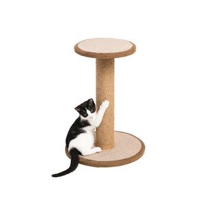 Round Jute Cat Scratching Post with Perch from Prevue Pet