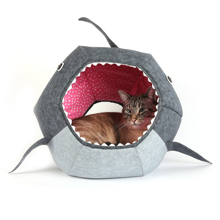 Great White Shark Cat Ball® Hideaway Cat Bed