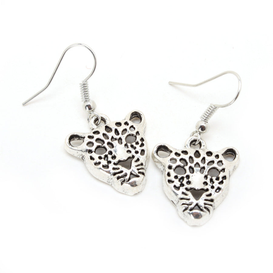 Leopard Face Earrings