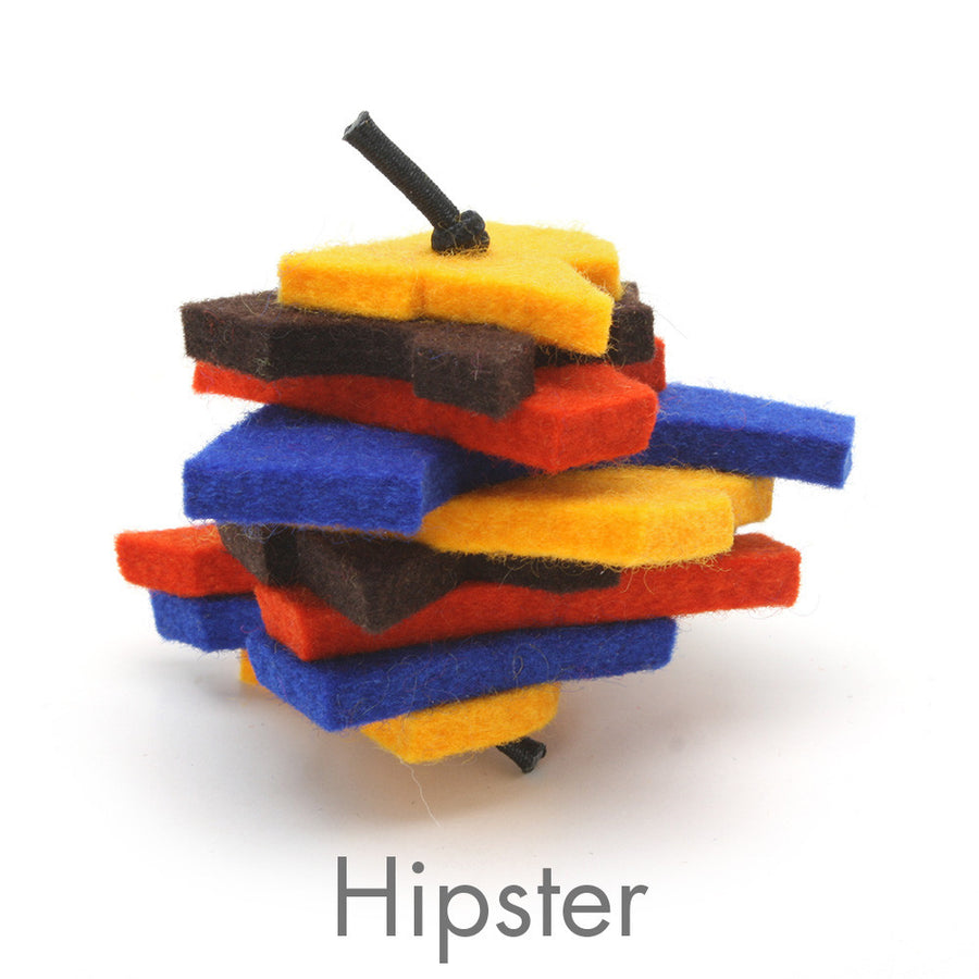 Stacks - Merino Wool Felt Cat Toys