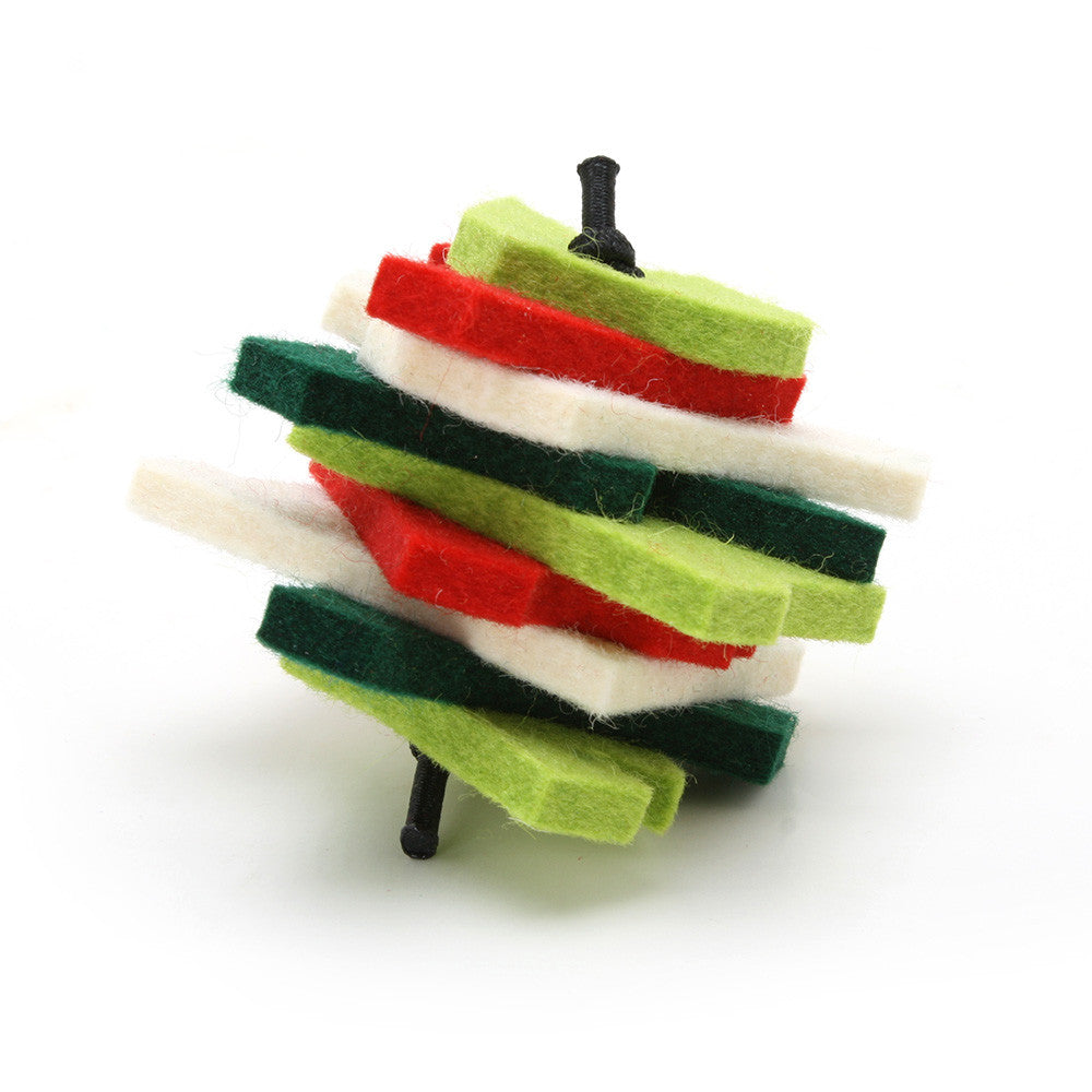 Holiday Stacks - Merino Wool Felt Cat Toys