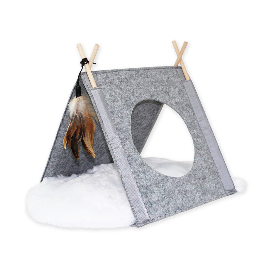 Katt3 Felt Tipi with Cushion
