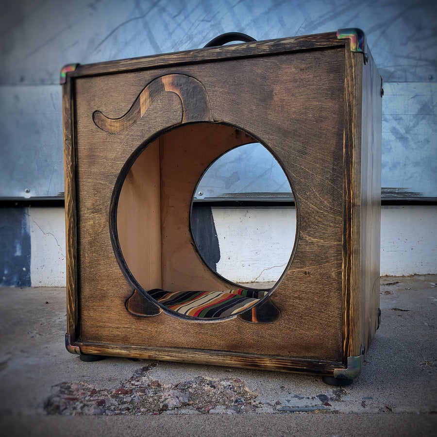 CatCab - Cat Hideaway Inspired by Custom Speaker Cabinets :: Toasted Walnut
