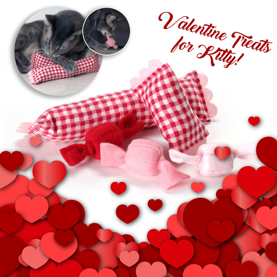 Valentine's Day Cat Toy Set