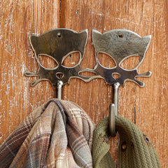 Outlaw Kitty Metal Wall Hooks by WATTO Distinctive Metal Wear