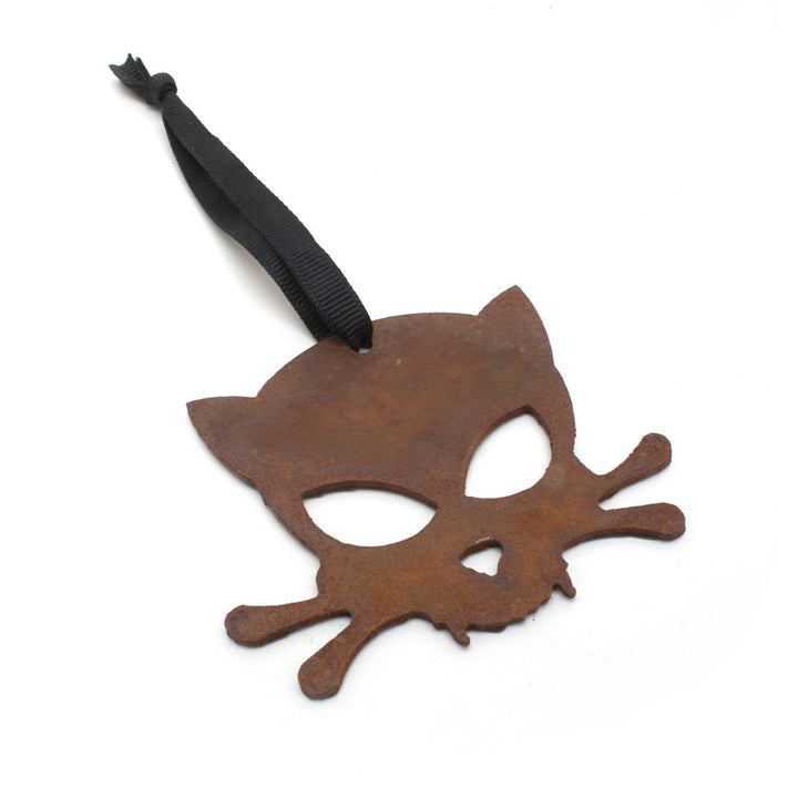 Outlaw Kitty Rustic Ornament by WATTO Distinctive Metal Wear
