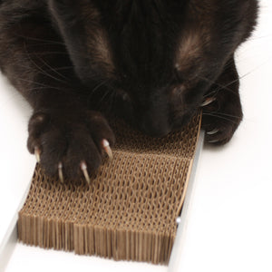Wave Modern Cardboard Cat Scratcher by Hauspanther