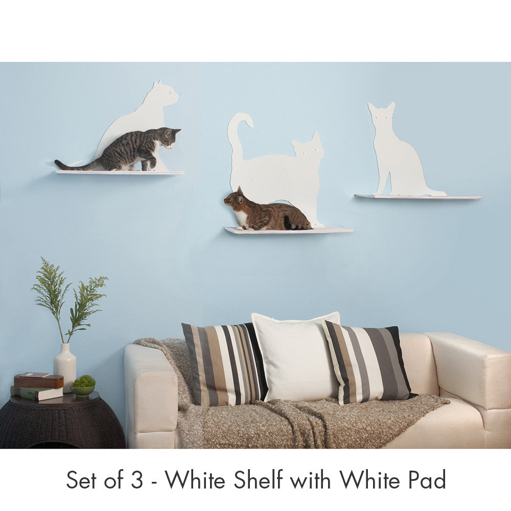 cat silhouette cat shelves from the refined feline – hauspanther - cat silhouette cat shelves from the refined feline