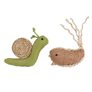 Jackson Galaxy Snail & Narwhal Cat Toy 2 Pack