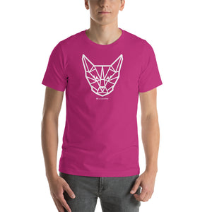 Geometric Cat Head Short-Sleeve Unisex T-Shirt