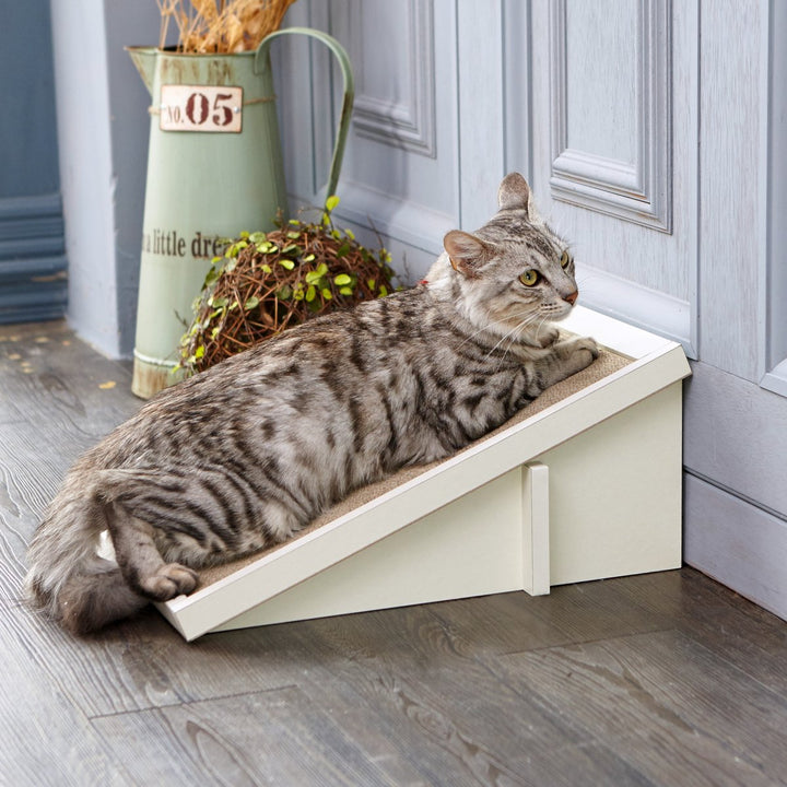 Eco-friendly Non Toxic Incline Cardboard Cat Scratcher from Way Basics