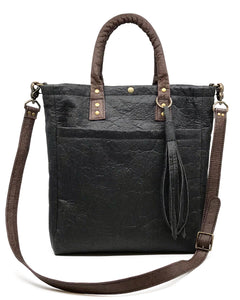 Black and Brown Piñatex Tote