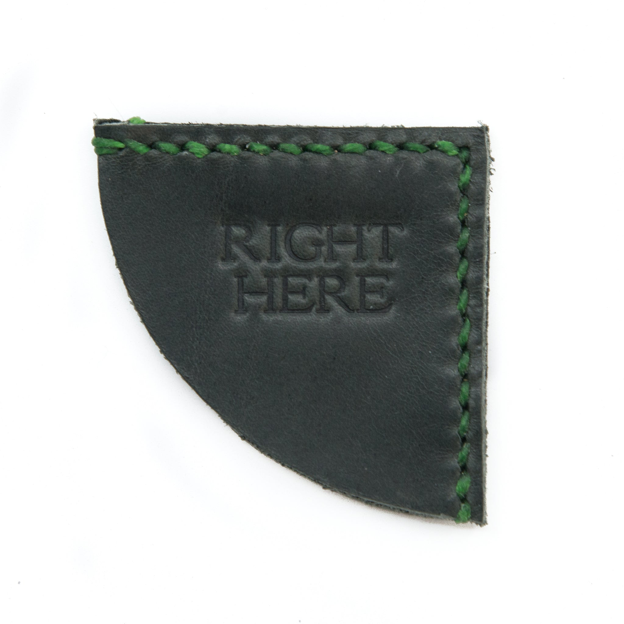 Leather Bookmark - Right Here