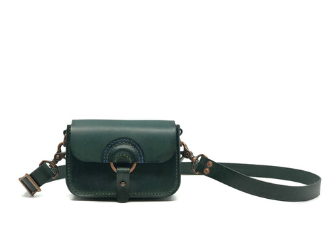 Solnedgang Dual Belt Bag and Crossbody - Green and Copper