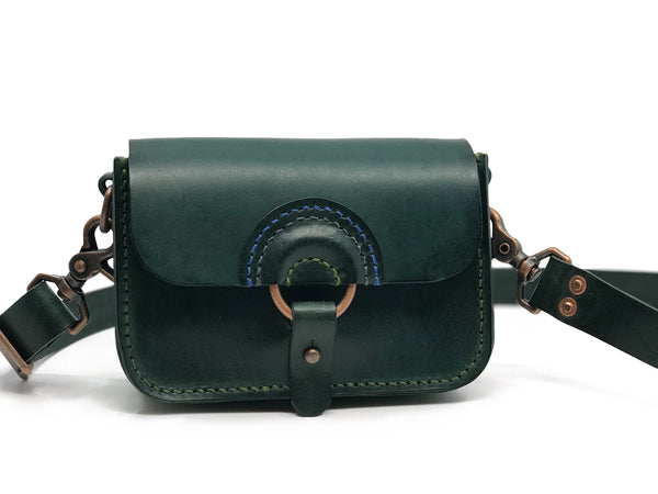 Solnedgang Dual Belt Bag and Crossbody - Green and Copper (MADE TO ORDER)