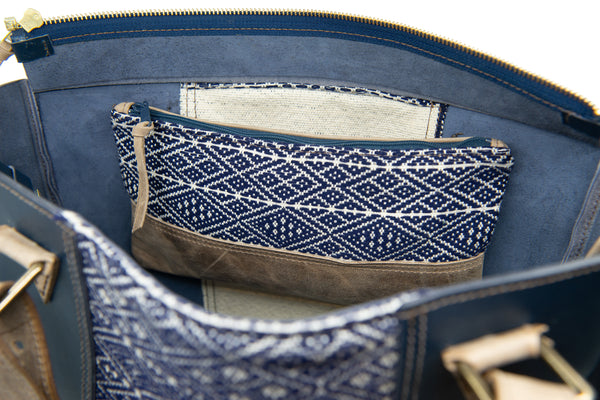 Deep Blue Sea interior pocket clutch