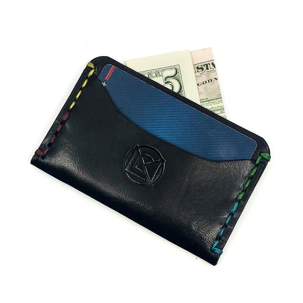 Horizontal Minimalist Wallet - Black Monochrome