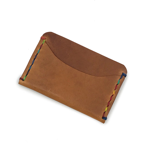 Horizontal Minimalist Wallet - Rainbow in the Sand