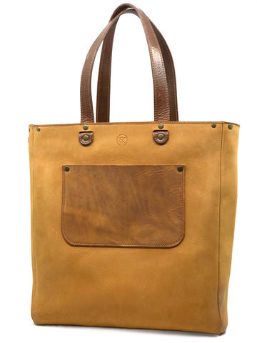 *SALE ON PROTOTYPE* Ziggy Convertible Backpack Tote Sand and Brown - Zipper Edition
