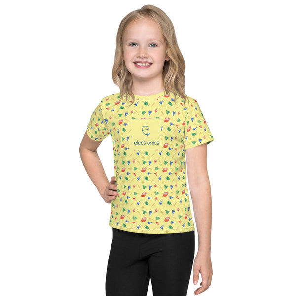 Electronic symbols kids t-shirt