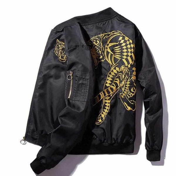 Tiger Black Jacket-Urban Shoes